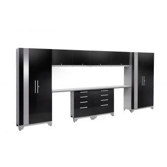 10 Piece Garage Cabinet Set N53584/82 Performance 2.0 High Gloss Black