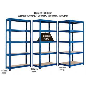 265kg UDL Industrial Shelving Units - Various Widths