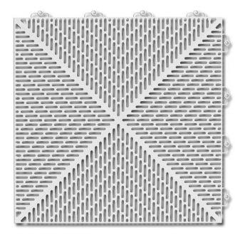 Outdoor PVC Tile - Light Grey