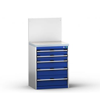 Bott Cubio 650mm Wide Free-Standing Drawer Assembly with Back Panel