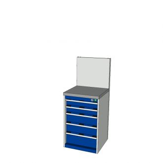 Bott Cubio 525mm Wide Free-Standing Drawer Assembly with Back Panel