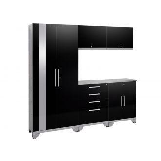 6 Piece Garage Cabinet Set N53550 Performance 2.0 High Gloss Black