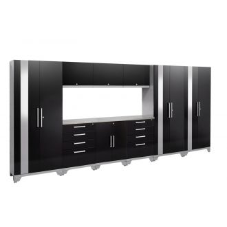 10 Piece Garage Cabinet Set N53592/90 Performance 2.0 High Gloss Black