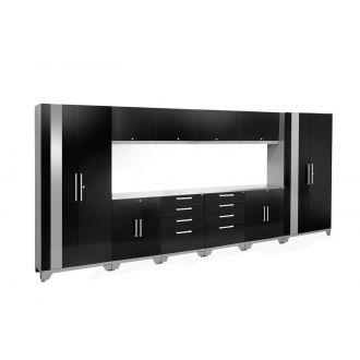 12 Piece Garage Cabinet Set N53596/94 Performance 2.0 High Gloss Black