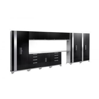 12 Piece Garage Cabinet Set N53598 Performance 2.0 High Gloss Black