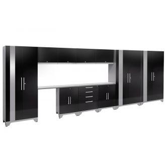 12 Piece Garage Cabinet Set N53602 Performance 2.0 High Gloss Black