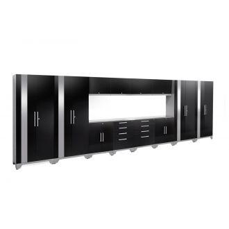 14 Piece Garage Cabinet Set N53610 Performance 2.0 High Gloss Black
