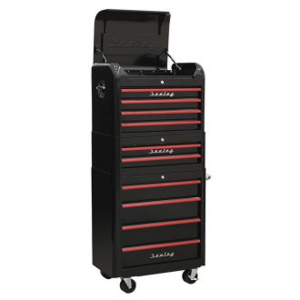 Sealey Retro Tool Chest in Black and Red SAP282BR  sc 1 st  GaragePride & Tool Chests u0026 Roller Cabinets