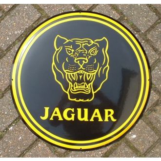 Enamel Sign Jaguar