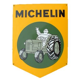 Enamel Sign Michelin Tractor