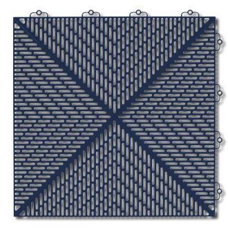 Outdoor PVC Tile - Dark Blue