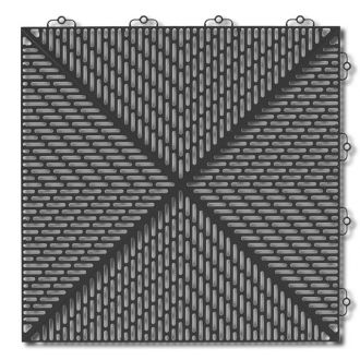 Outdoor PVC Tile - Graphite