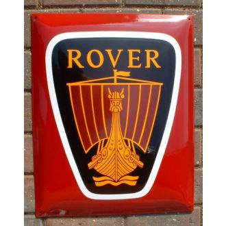 Enamel Sign Rover