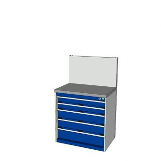 Bott Cubio 800mm Wide Free-Standing Drawer Assembly with Back Panel