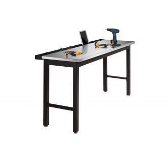 NewAge Garage Workbench N31060 - Width 72 inches, Stainless Steel Worktop