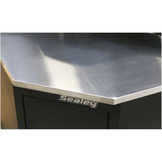 Sealey Premier Stainless Steel Corner Worktop - SPSTEELCORNER