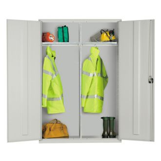 Steel Cupboard Two Compartment Wardrobe 1830Hx1220Wx457D EL4818W
