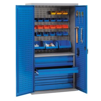 Tools and Small Parts Storage Cupboard 1800Hx1000Wx500D J88815E