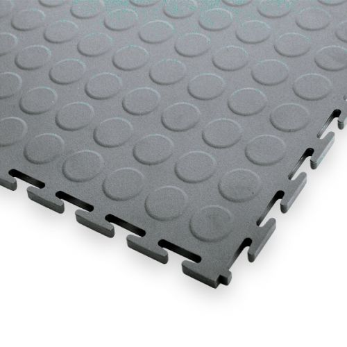 Garage Floor Tiles 7mm Thick Pvc Raised Disk Texture