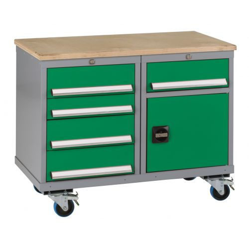 Mobile Tool Trolley Five Drawers And Cupboard