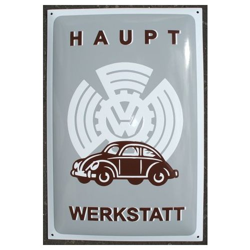 enamel sign vw werkstatt. Black Bedroom Furniture Sets. Home Design Ideas