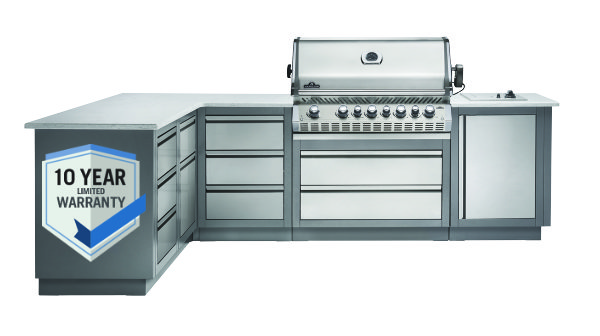 BBQ Outdoor Steel Kitchen Cabinets
