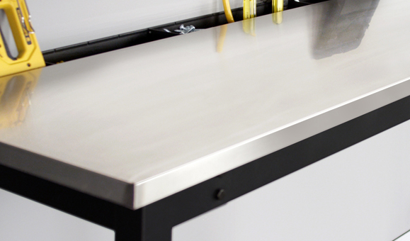 Garage Workbench with stainless worktop